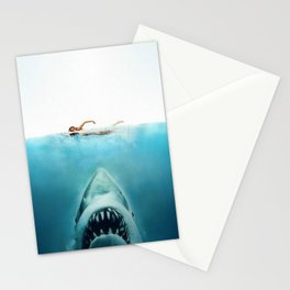 First And Last Swim Of The Day Stationery Cards