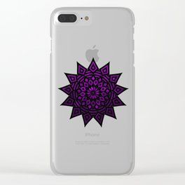 Purple Star | Tam Tam | Mandhala Clear iPhone Case