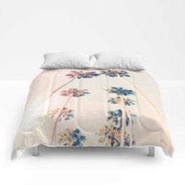 Vintage Pastel Palm trees Comforters