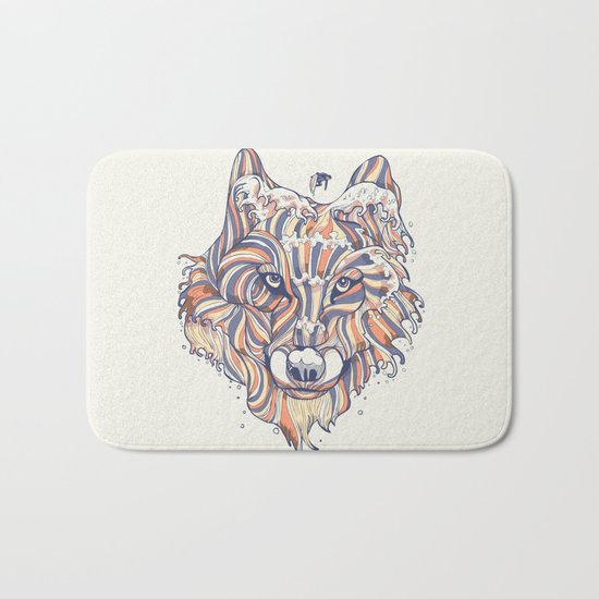 Wave Wolf Bath Mat