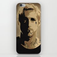 ryan gosling iPhone & iPod Skins featuring Ryan Gosling TPBTP by Andy Rogerson