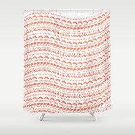 Wavy Episcopal miter shell pattern Shower Curtain