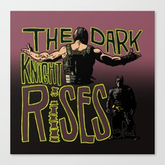Showdown // The Dark Knight Rises Canvas Print