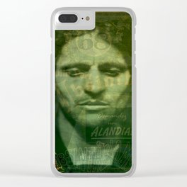 Absinthe, Vintage Advertisement Collage Clear iPhone Case