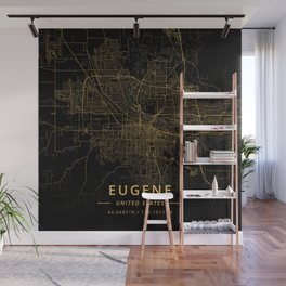 Eugene, United States - Gold Wall Mural