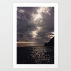 LIGURE SUNSET Art Print