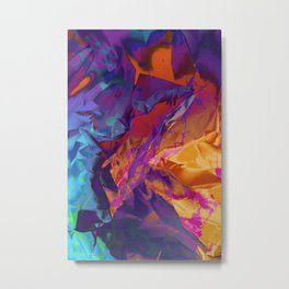 Dragon's Back. Dynamic, Blue, Purple and Orange Abstract. Metal Print