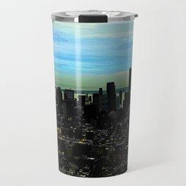 Artistic NYC Skyline Travel Mug