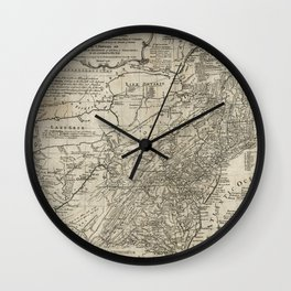 Map of the middle British colonies in North America - 1776 Wall Clock