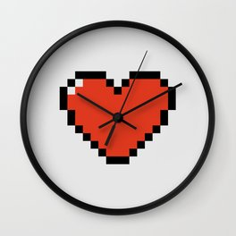 Pixel Heart Wall Clock