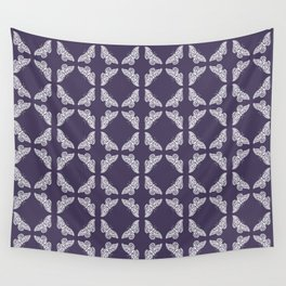 Meteorite Purple Arts and Crafts Butterflies Wall Tapestry