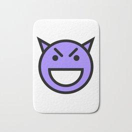 Smiley Face   Laughing Devil Face Blue Bath Mat