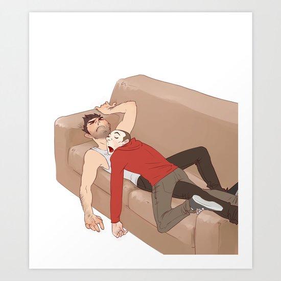 the drooling human blanket Art Print