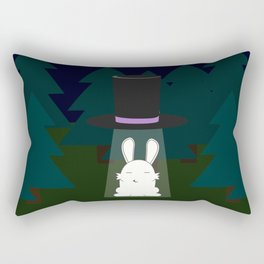 The abduction of Mr. Rabbitson Rectangular Pillow