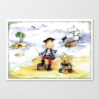 pirate Canvas Prints featuring Pirate by LolMalone