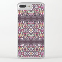Seamless lacy lace pattern background Clear iPhone Case