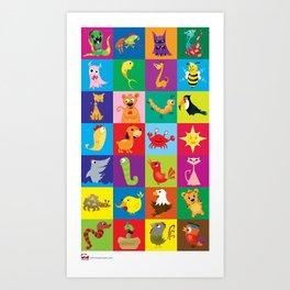 Critters Love You All-Stars. Art Print