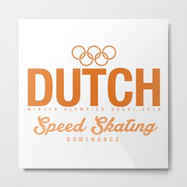Dutch - Speed Skating Metal Print