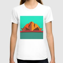 Lotus Temple, Modern Architecture Abstracts T-shirt