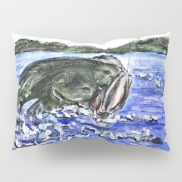Jumping Bass Pillow Sham