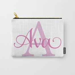 Ava - Girls Name Carry-All Pouch