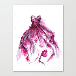Flower Gown Canvas Print