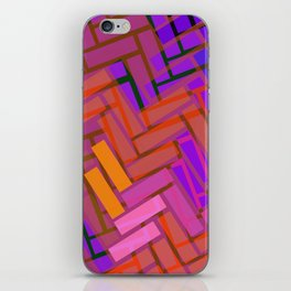 Pop Colored Blanks iPhone Skin