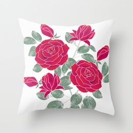 Red roses. Throw Pillow