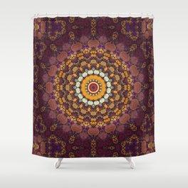 Enchanted Autumn -- Mandala Form Shower Curtain