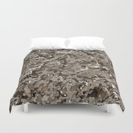 Urban Brown Realistic 3D Camo Pattern Camouflage Duvet Cover