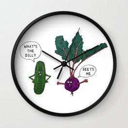 Veggie Convos Wall Clock