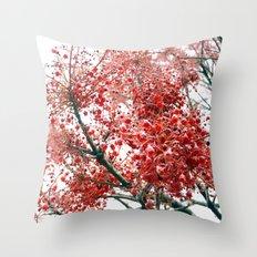 Star Berries Throw Pillow