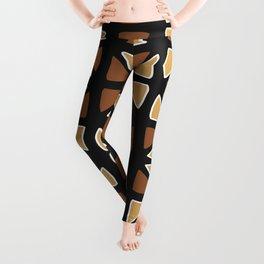 African mud cloth random triangles Leggings
