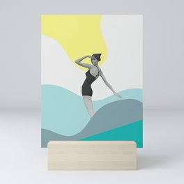 Swimmer Collage Mini Art Print