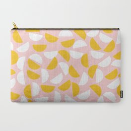 Semi Circles in Mustard and White Carry-All Pouch