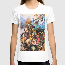 12,000pixel-500dpi - Pieter Bruegel - The Fall Of The Rebel Angels - Digital Remastered Edition T-shirt