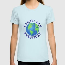Colorful Earth Day Everyday T-shirt