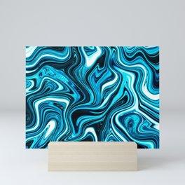 Retro Surfing Wave Marble Mini Art Print