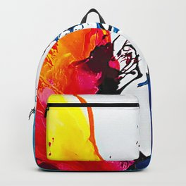 Abstract Art Britto - QB292 Art Print Backpack