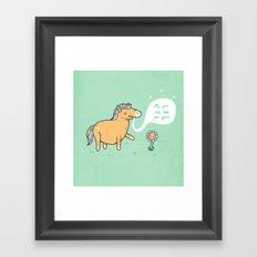 My poo will help you grow! Framed Art Print
