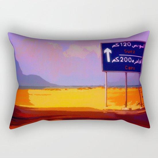 Road to Cairo Rectangular Pillow