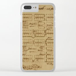 Map Of Savannah 1761 Clear iPhone Case