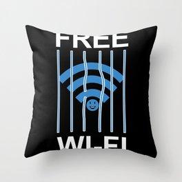 Free Wi-Fi Funny Throw Pillow