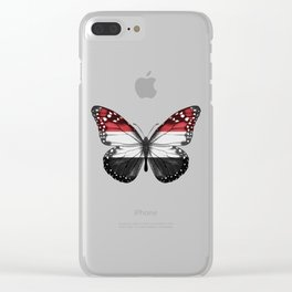 Butterfly Flag Of Yemen Clear iPhone Case