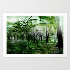 Retrollage 2.. Art Print