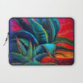 DECORATIVE  BLUE DESERT AGAVE RED DAWN DESIGN Laptop Sleeve
