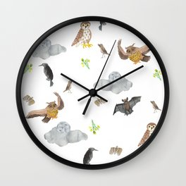 Night Creatures Wall Clock