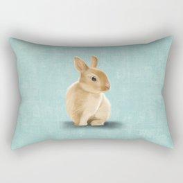 Portrait of a little bunny Rectangular Pillow