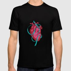 By heart Black SMALL Mens Fitted Tee
