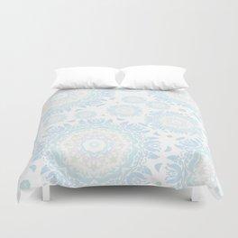 light blue mandalas pattern Duvet Cover